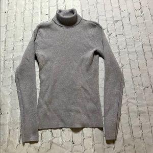 Grey silver glitter turtleneck sweater